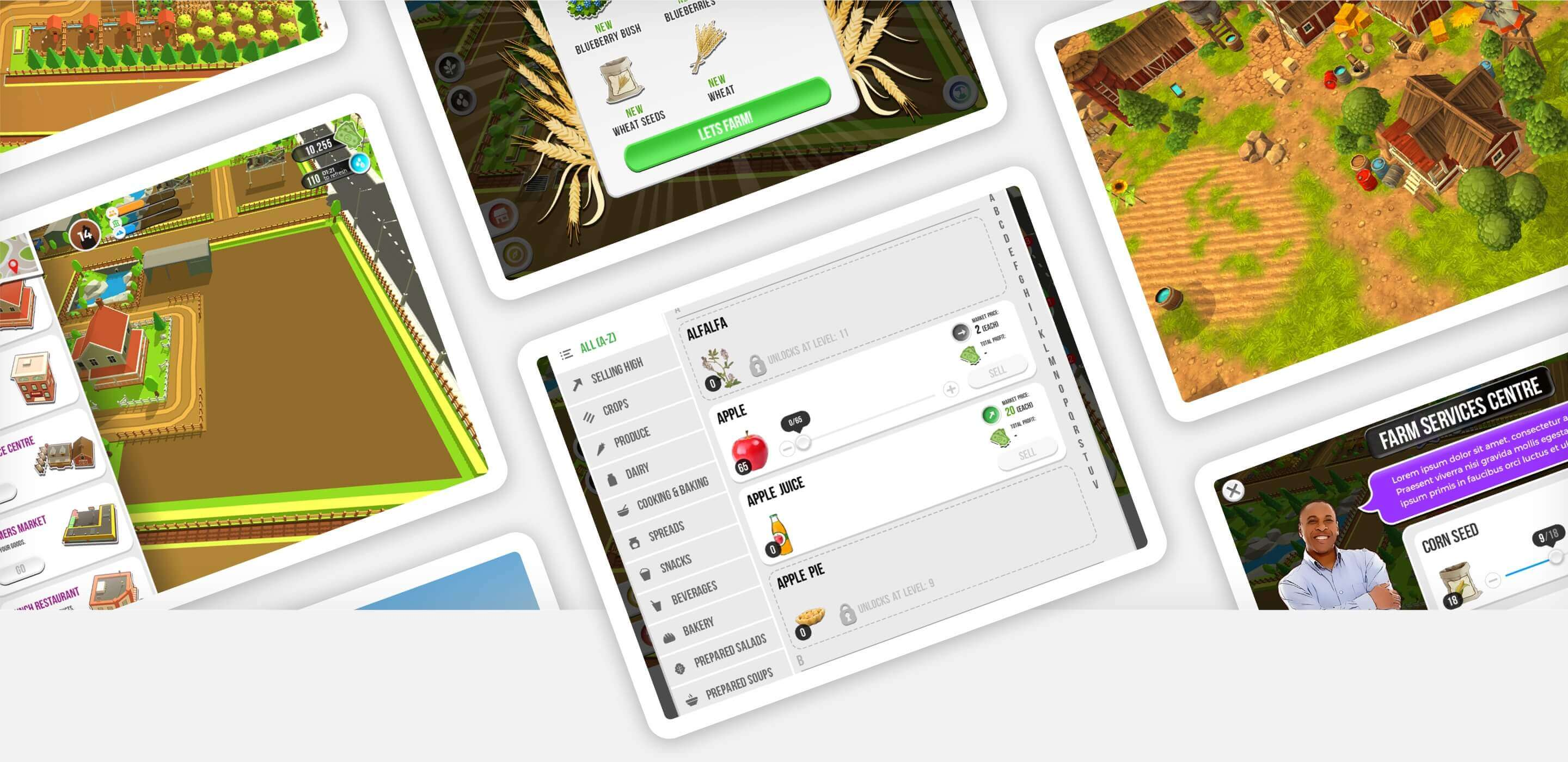 Farmers 2050 app on iPads