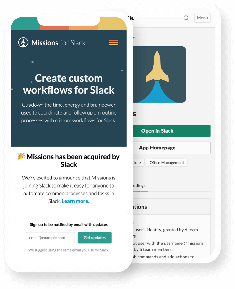 Missions for Slack iPhone app