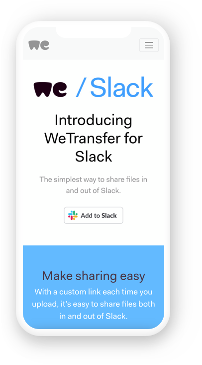 Slack WeTransfer iPhone